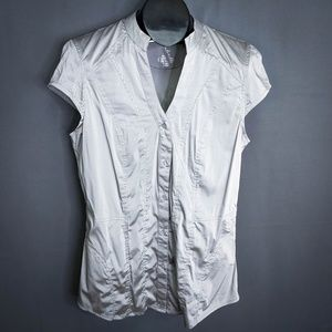 Rock 47 Wrangler Top Shirt Large Gray Silver Women